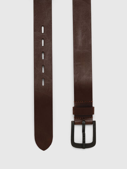 Diesel - B-DART, Brown Leather - Belts - Image 3