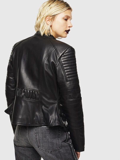 Diesel - L-IGE, Black - Leather jackets - Image 2