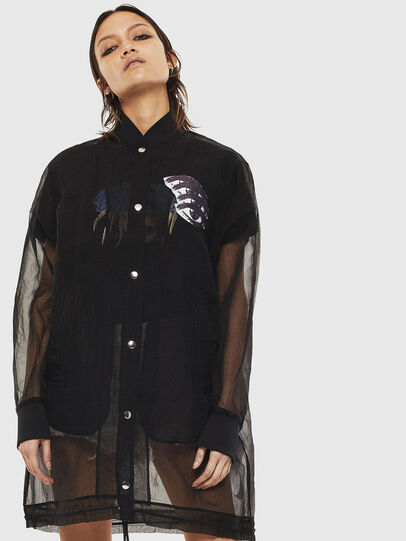 Diesel - G-CLAY, Black - Jackets - Image 1