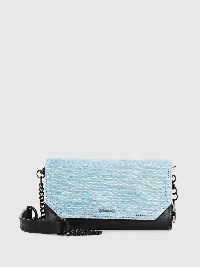 Diesel - GIPSI, Black/Blue - Small Wallets - Image 1