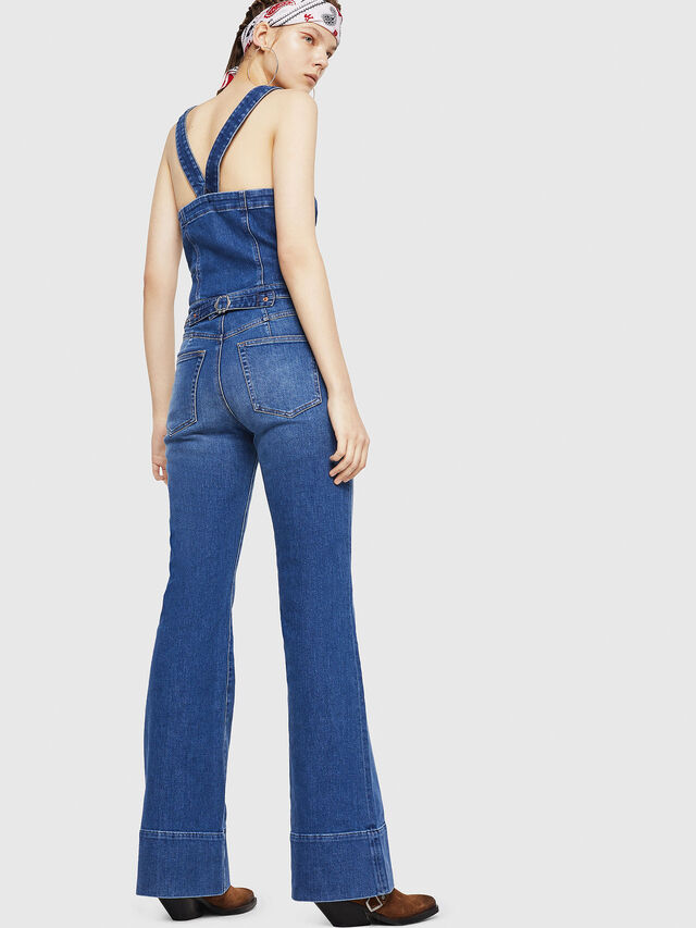 Diesel - DE-THINK, Blue Jeans - Jumpsuits - Image 2
