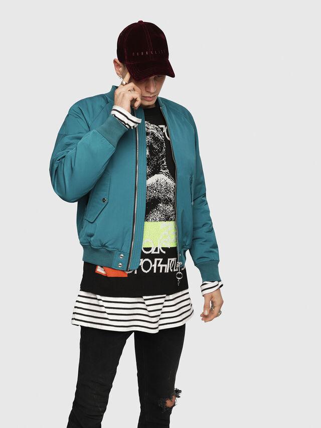 Diesel - J-SHOJI, Dark Green - Jackets - Image 1