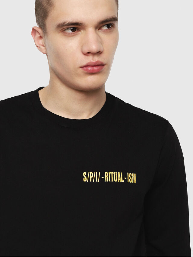 Diesel - T-YOSHIMI, Black/Yellow - T-Shirts - Image 3