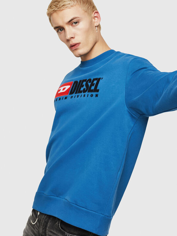 S-CREW-DIVISION, Blue - Sweaters
