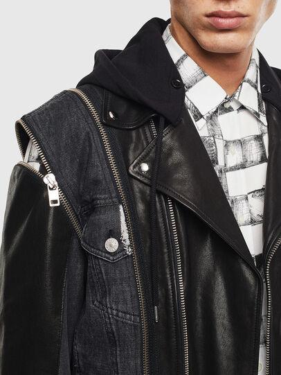 Diesel - D-LOSTY-SY, Black - Leather jackets - Image 3