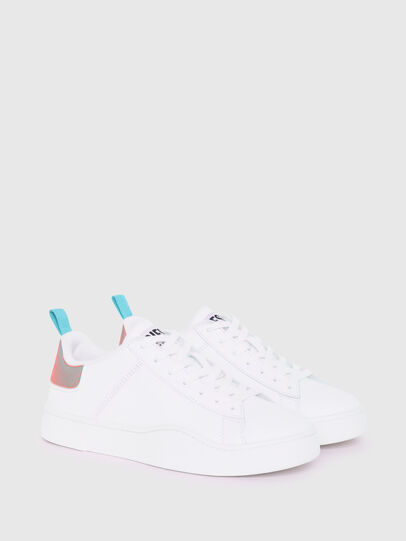 Diesel - S-CLEVER LOW LACE W, White/Blue - Sneakers - Image 2