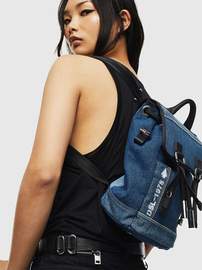 Diesel - DENIPACK, Blue Jeans - Backpacks - Image 8