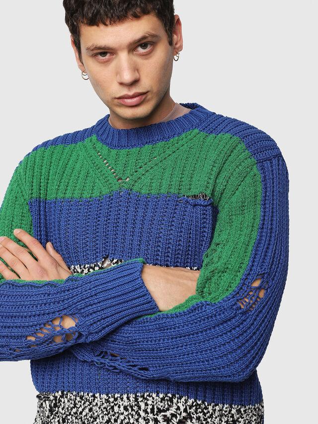 Diesel - K-DANIEL, Blue/Green - Knitwear - Image 3