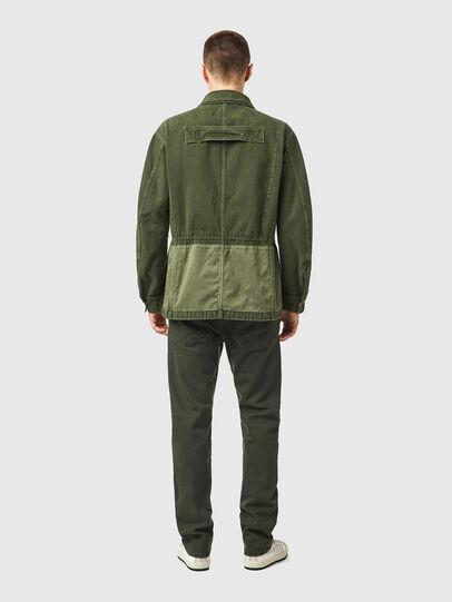 Diesel - D-NOVO-SP, Olive Green - Denim Jackets - Image 6