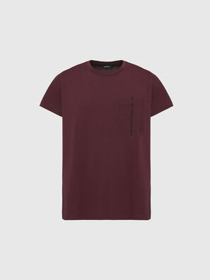 T-RUBIN-POCKET-J1, Bordeaux - T-Shirts