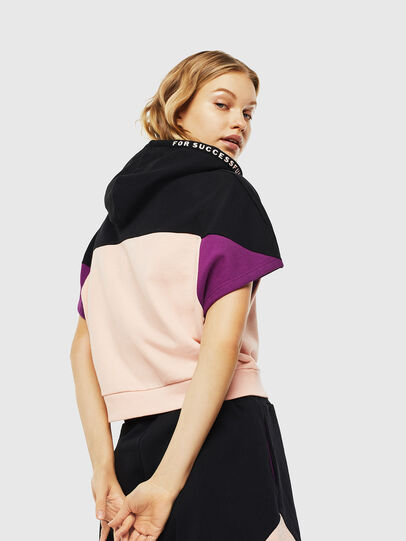 Diesel - UFLT-PHYLOSH-HOOD, Black/Pink - Sweaters - Image 2