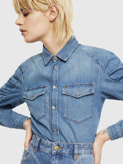 Diesel - DE-RINGY-R, Light Blue - Denim Shirts - Image 5