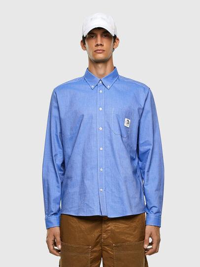Diesel - S-JAMES, Light Blue - Shirts - Image 4