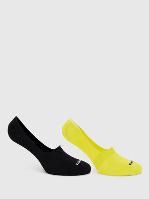SKM-NOSHOW-TWOPACK, Black/Yellow - Socks