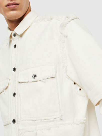 Diesel - D-KURTIS, White - Denim Shirts - Image 6