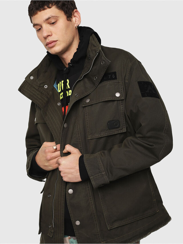 Diesel - J-TOUCHA, Military Green - Jackets - Image 6