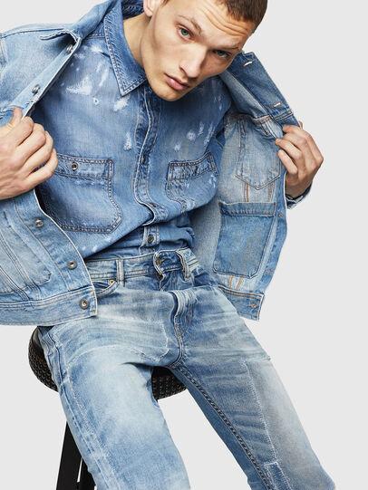 Diesel - Thommer 0092F, Light Blue - Jeans - Image 4