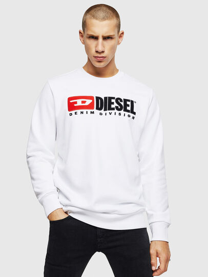 Diesel - S-GIR-DIVISION, White - Sweaters - Image 1
