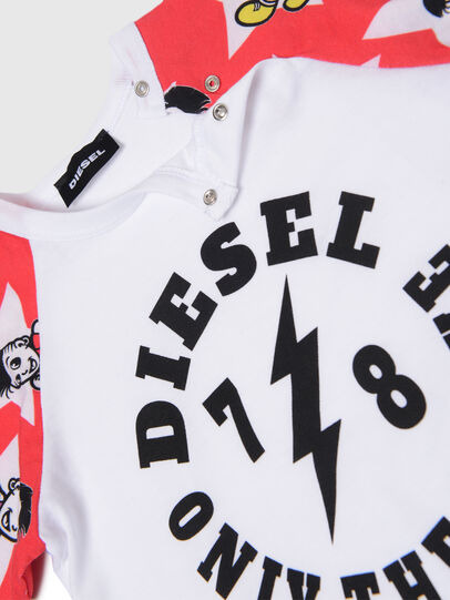 Diesel - TCELLOB, White/Red - T-shirts and Tops - Image 3