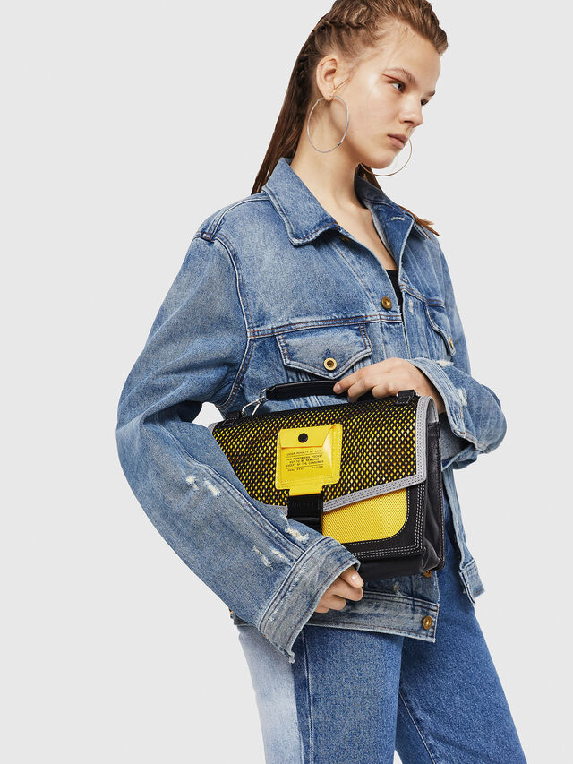 Diesel - MISS-MATCH CROSSBODY, Blue/Yellow - Crossbody Bags - Image 5