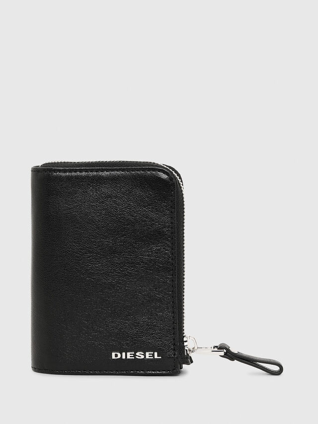 Diesel - L-12ZIP, Black - Small Wallets - Image 1