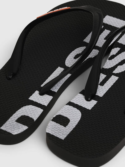 Diesel - SA-BRIIAN, Black/White - Slippers - Image 4