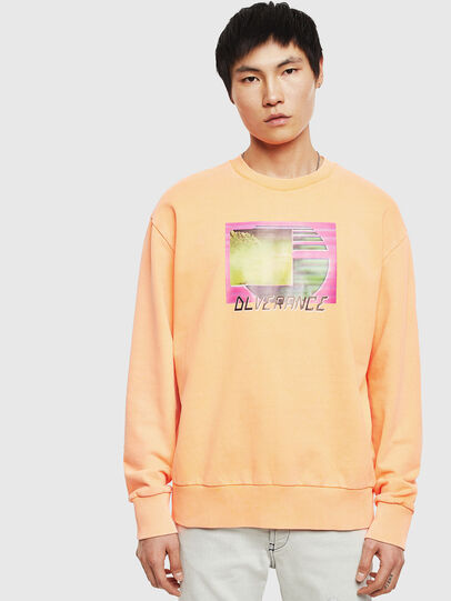 Diesel - S-BIAY-FLUO, Orange - Sweaters - Image 1
