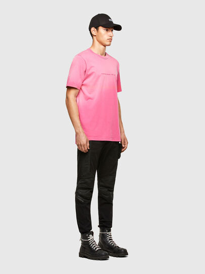 Diesel - T-JUBIND-SLITS-A1, Pink - T-Shirts - Image 4
