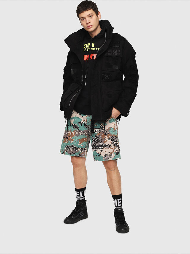 Diesel - J-TOUCHA-DESTROY, Black - Jackets - Image 6
