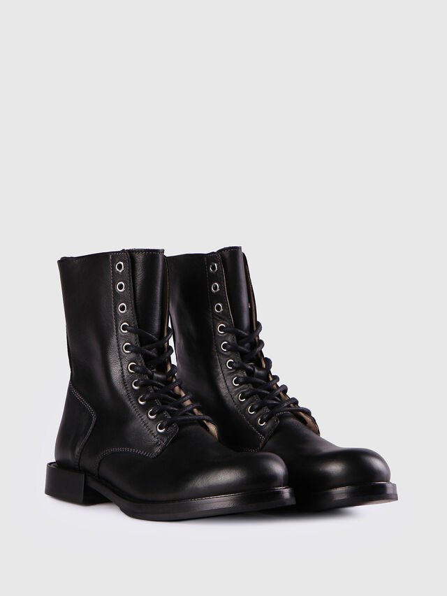 Diesel D-KOMB BOOT CB, Black Leather - Ankle Boots - Image 2