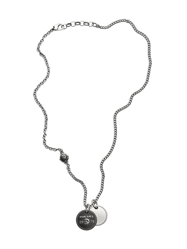 Diesel - NECKLACE DX1091, Silver - Necklaces - Image 1