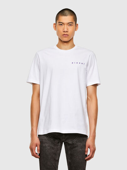 Diesel - T-JUST-N44, White - T-Shirts - Image 1
