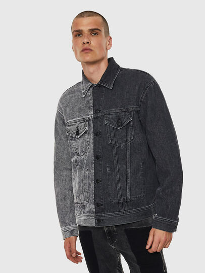 Diesel - D-POLL, Black - Denim Jackets - Image 1