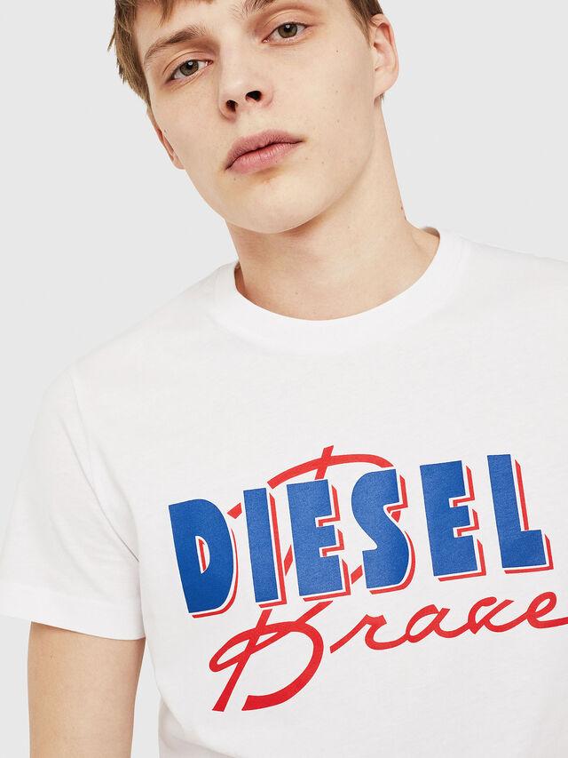 Diesel - T-DIEGO-C2, White/Red/Blu - T-Shirts - Image 3