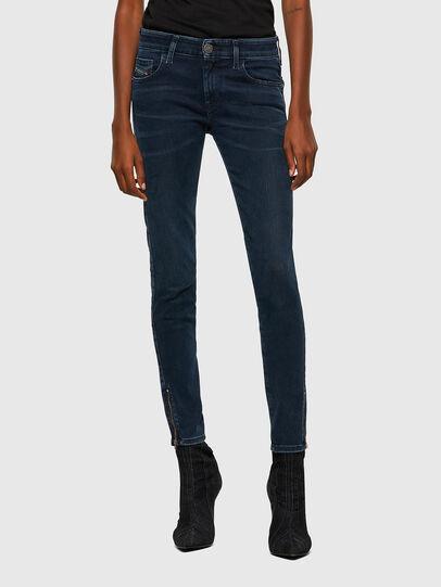 Diesel - Slandy Low 009QF, Dark Blue - Jeans - Image 1