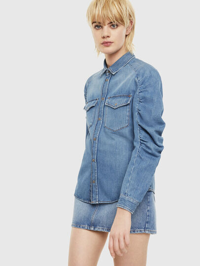 Diesel - DE-RINGY-R, Light Blue - Denim Shirts - Image 1