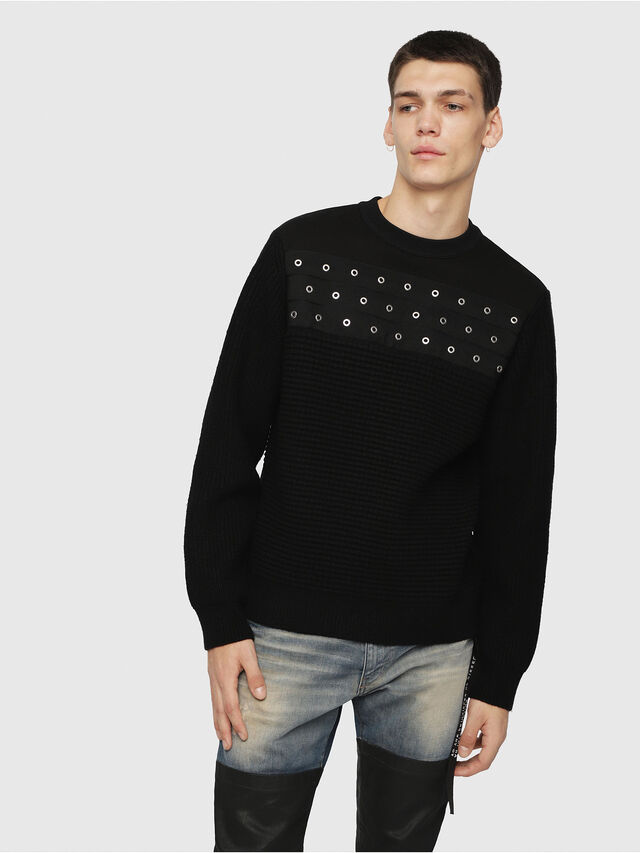 Diesel - K-RUSHIS, Black - Knitwear - Image 1