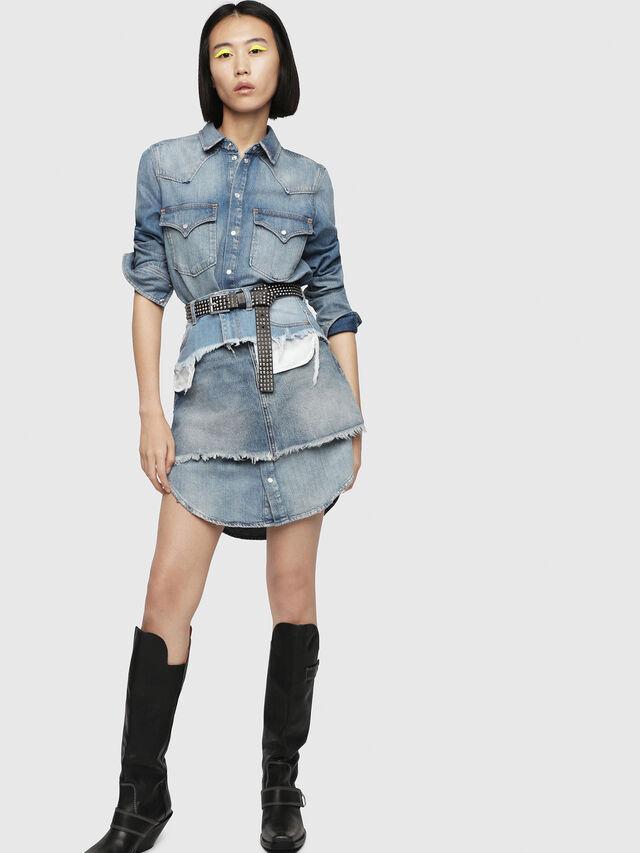 Diesel - DE-DESY-P, Blue Jeans - Dresses - Image 4