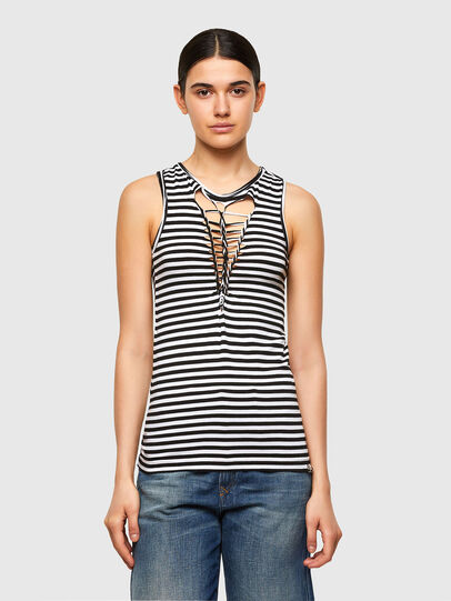 Diesel - T-REC, White/Black - Tops - Image 1