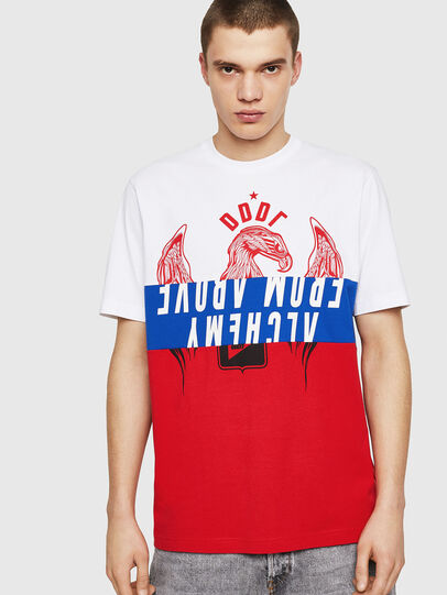 Diesel - T-JUST-A1, White/Red/Blu - T-Shirts - Image 1