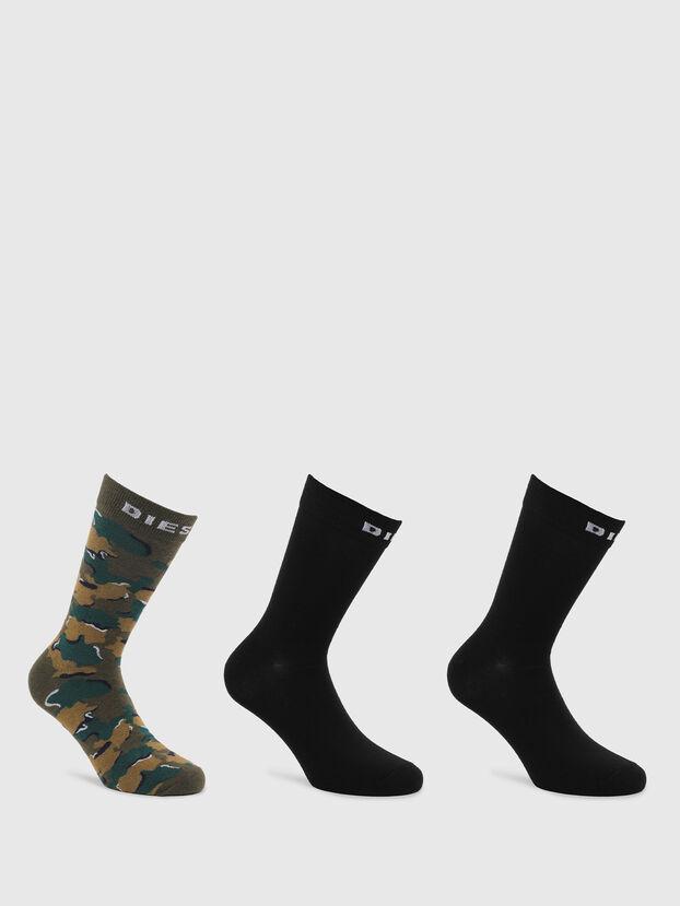 SKM-RAY-THREEPACK, Black/Green - Socks