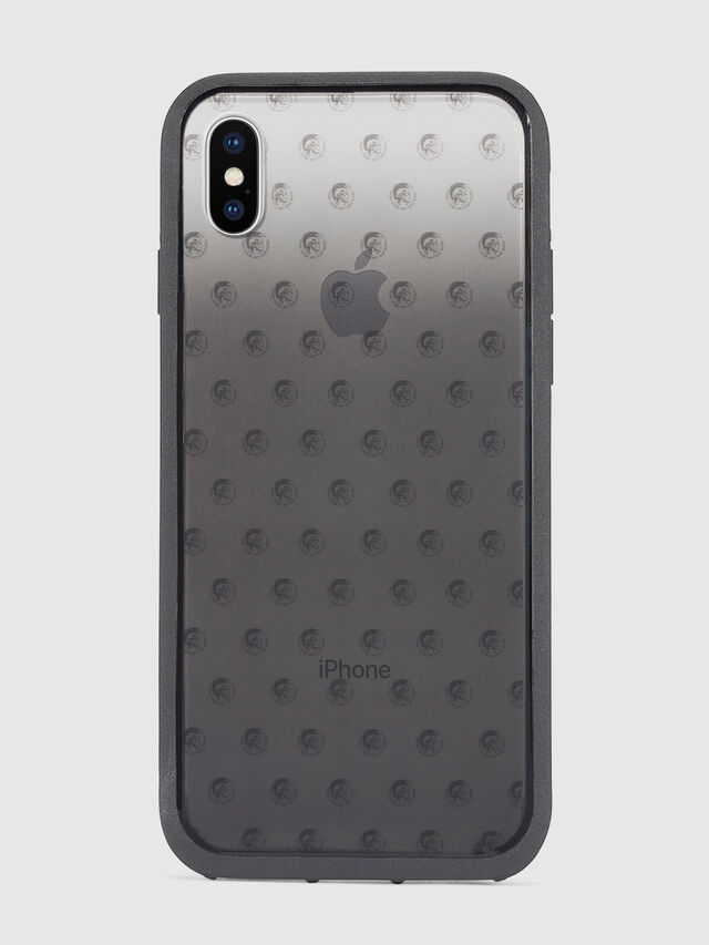 Diesel MOHICAN HEAD DOTS BLACK IPHONE X CASE, Black/Grey - Cases - Image 2