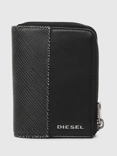 Diesel - L-12 ZIP, Black/White - Zip-Round Wallets - Image 1
