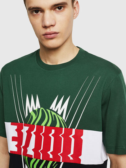 Diesel - T-JUST-A11, Green/Black - T-Shirts - Image 3