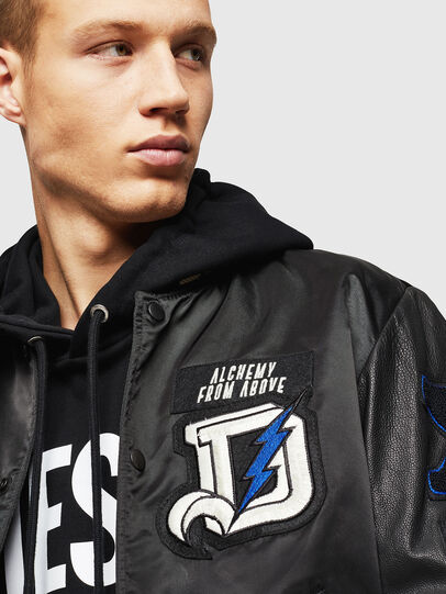 Diesel - L-KHARKOV, Black - Leather jackets - Image 3