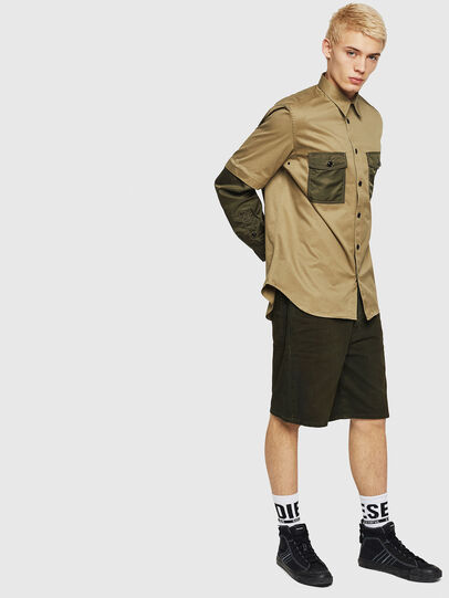 Diesel - D-WILLOH, Dark Green - Shorts - Image 4