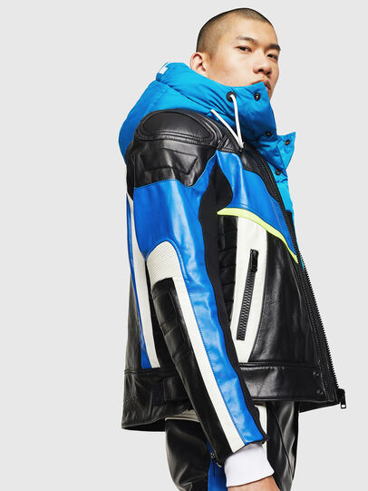 Diesel - ASTARS-LDUE, Black - Leather jackets - Image 4