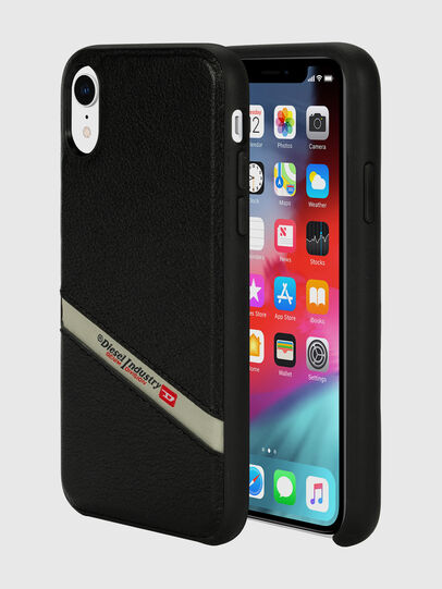 Diesel - DIESEL LEATHER CO-MOLD CASE FOR IPHONE XR, Black - Cases - Image 1