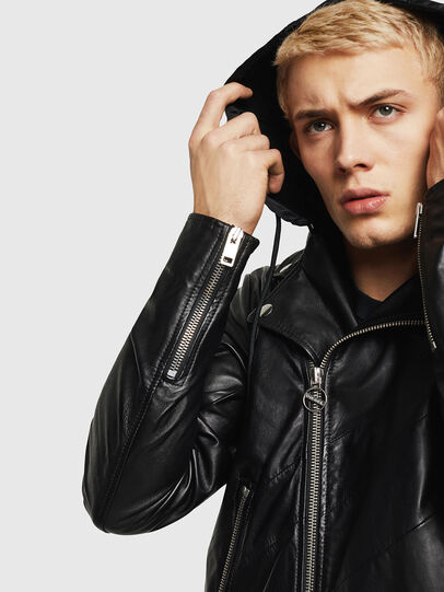 Diesel - L-SOLOVE, Black - Leather jackets - Image 5