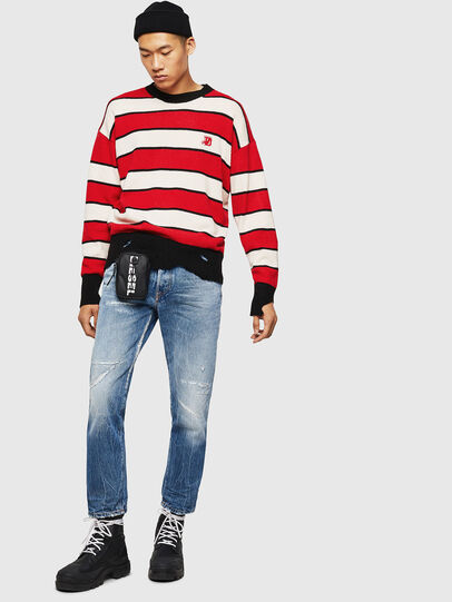 Diesel - K-LOVERY, Red/White - Knitwear - Image 8